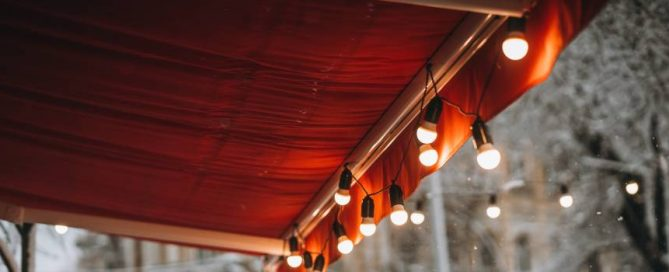 Awning with Garland